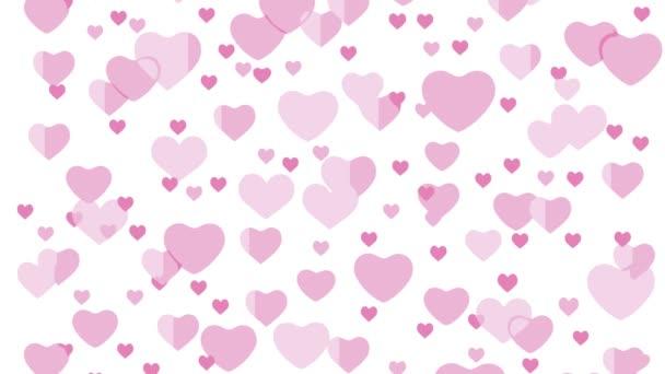 srdce růžová romantika láska padající ilustrace