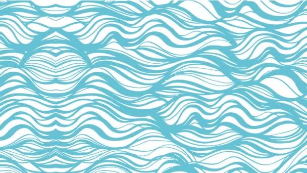 hullámok kék alakú óceán víz áramlását