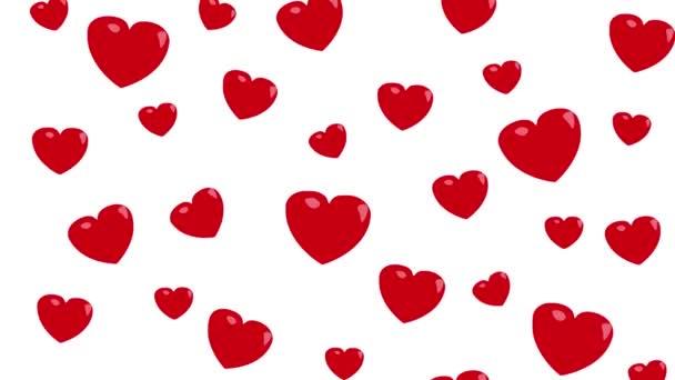 heart falling red shape illustration motion