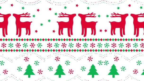 karácsonyfa rénszarvas motívum mozgás