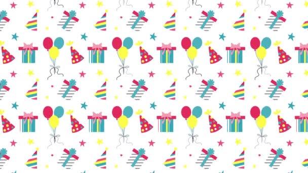 výroční vzor představuje balónky pohybu ilustrace