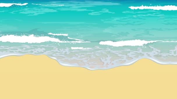 písek pláž voda vlny ilustrace pohyb