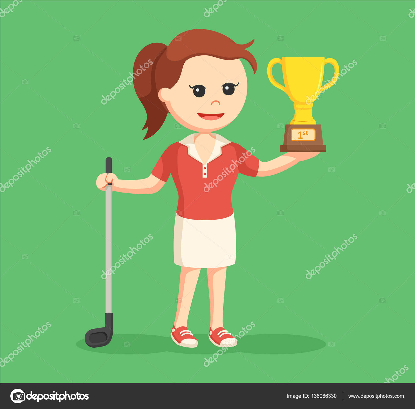 ᐈ Lady Golf Cartoon Stock Images Royalty Free Cartoon Female Golfer Pictures Download On Depositphotos