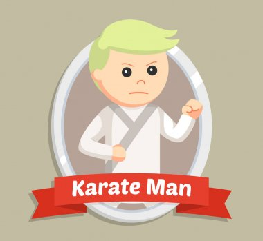 karate man in emblem