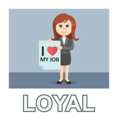 businesswoman loyal photo text style