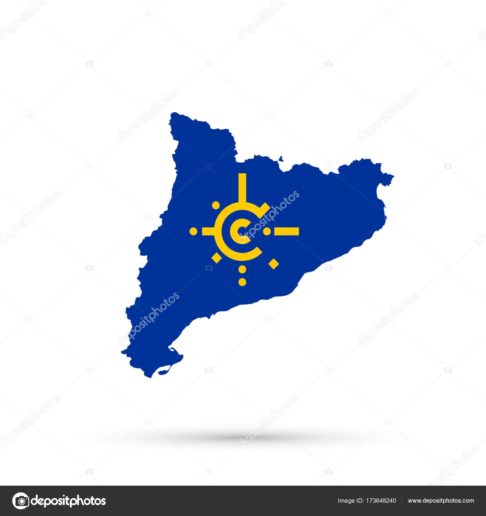 Catalonia Map In Central European Free Trade Agreement Cefta Flag