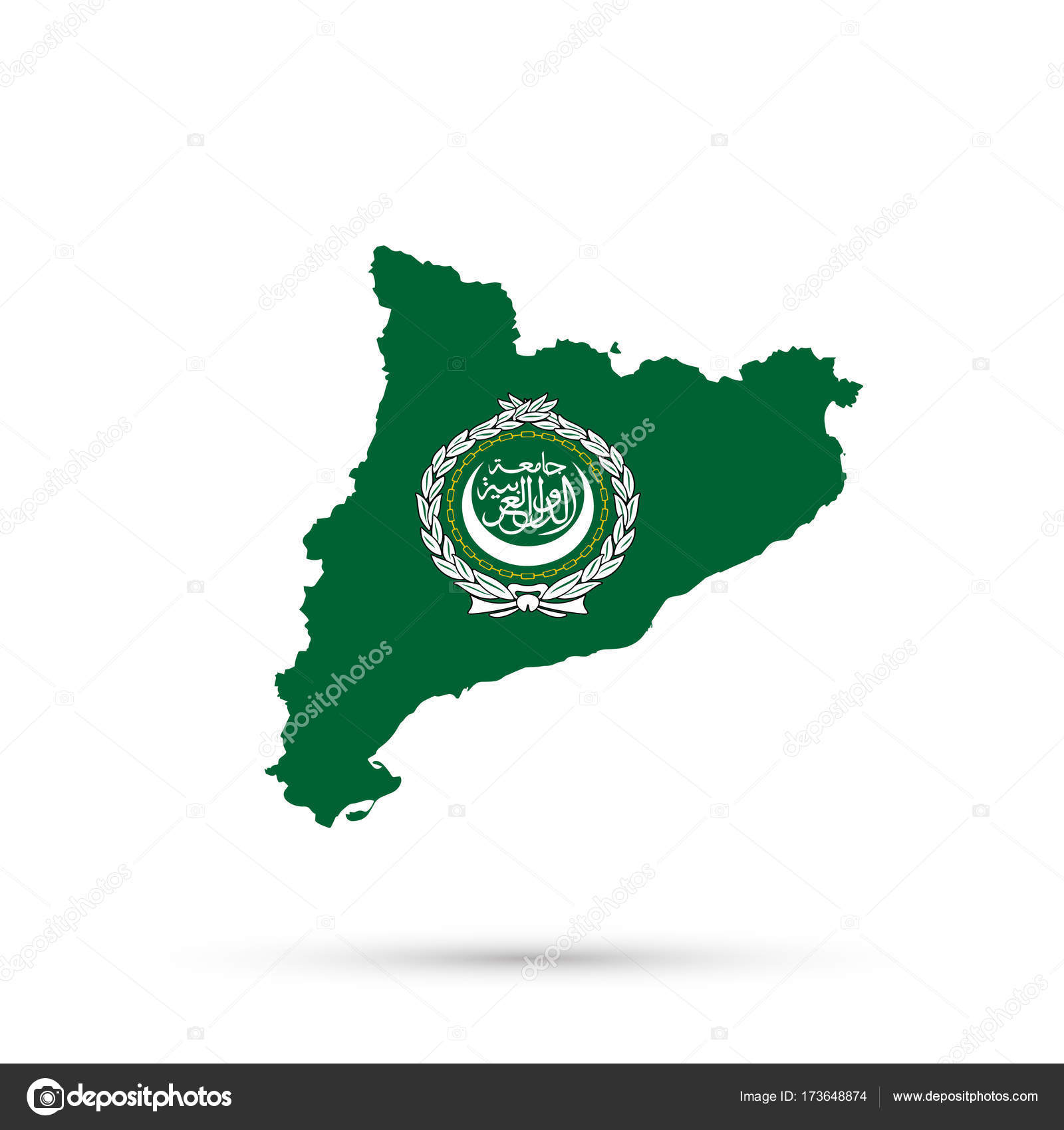 Picture of: Catalonia Map In Arab League Flag Colors Stock Photo C L8l 173648874