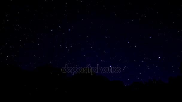 Zeitraffer in der Nacht