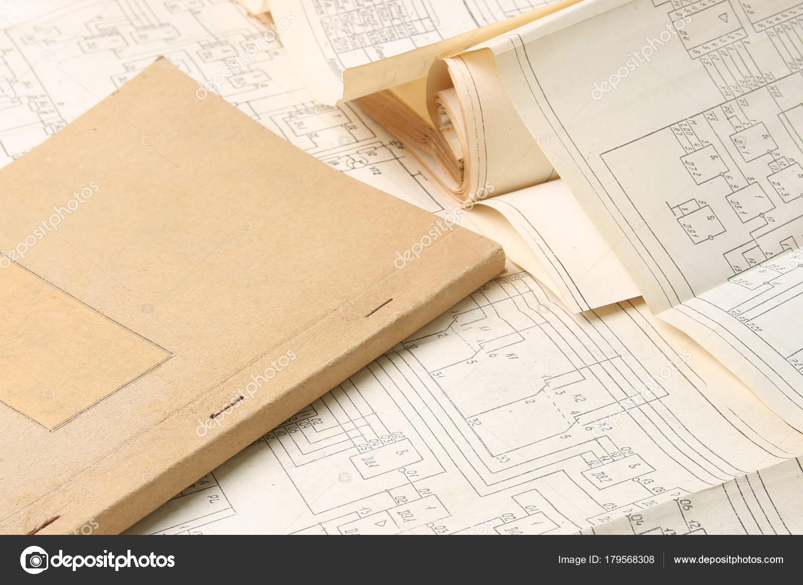 Vieux Shemes Électrique Documents Papier Vintage Diagramme ...