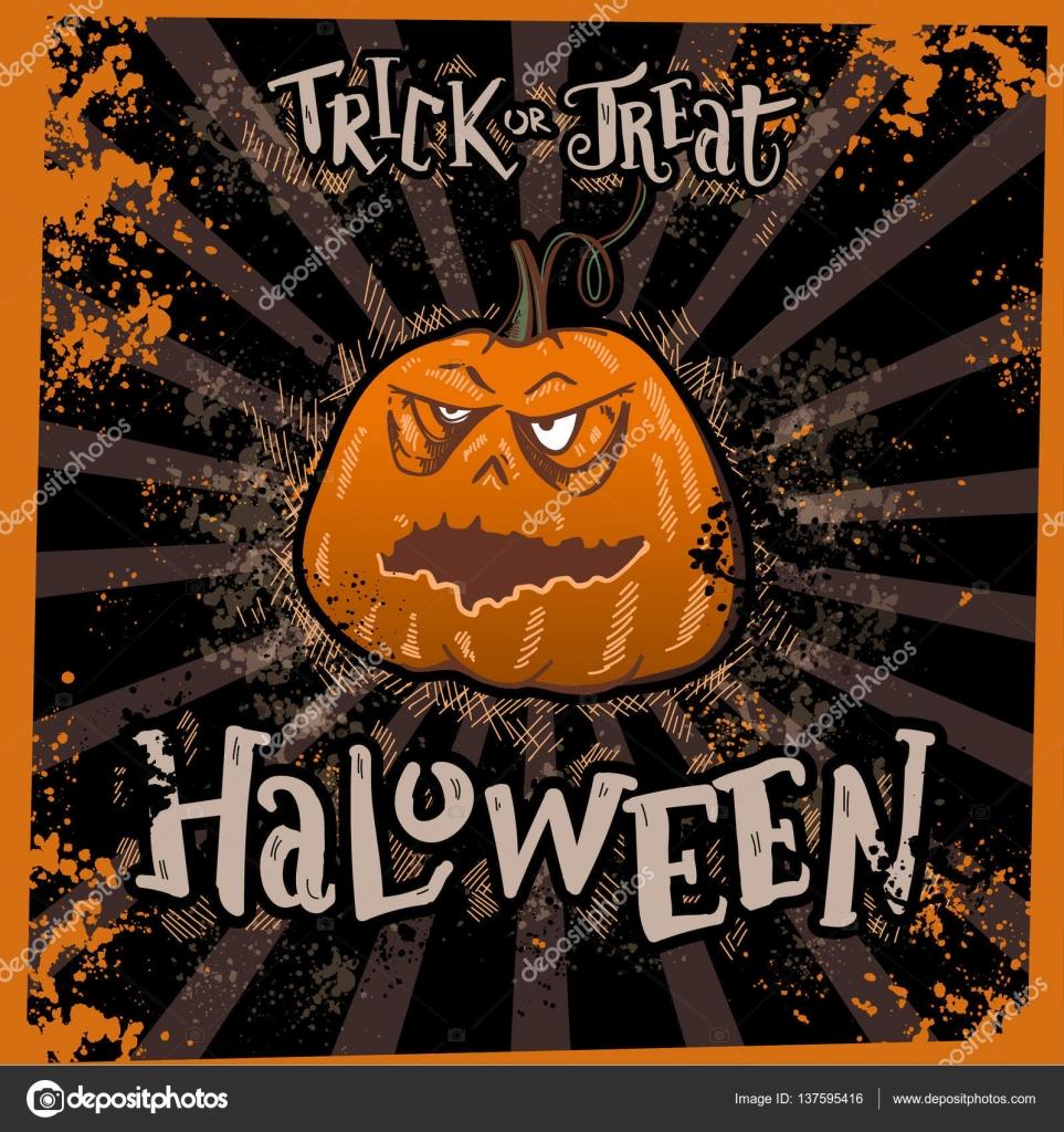 Halloween bener trick or treat eat design for invitation or halloween bener trick or treat eat design for invitation or greeting cards posters m4hsunfo