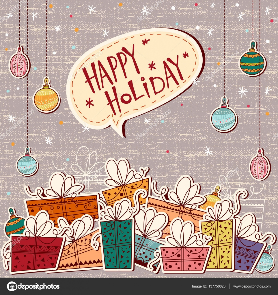 Christmas Greeting Card Merry Christmas Schriftzug, Vektor ...