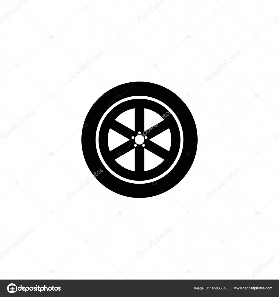 0427e6de8bb747 Car wheel vector icon on white background — Vector by  zavadskiyartyom@gmail.com