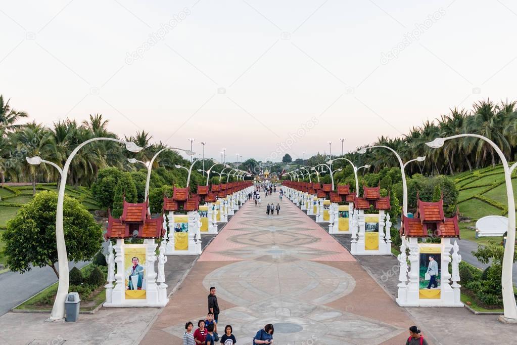 Chiangmai, Thailand - Jan 14 : Royal Park Rajapruek on Jan 14, 2017 in Chiangmai, Thailand