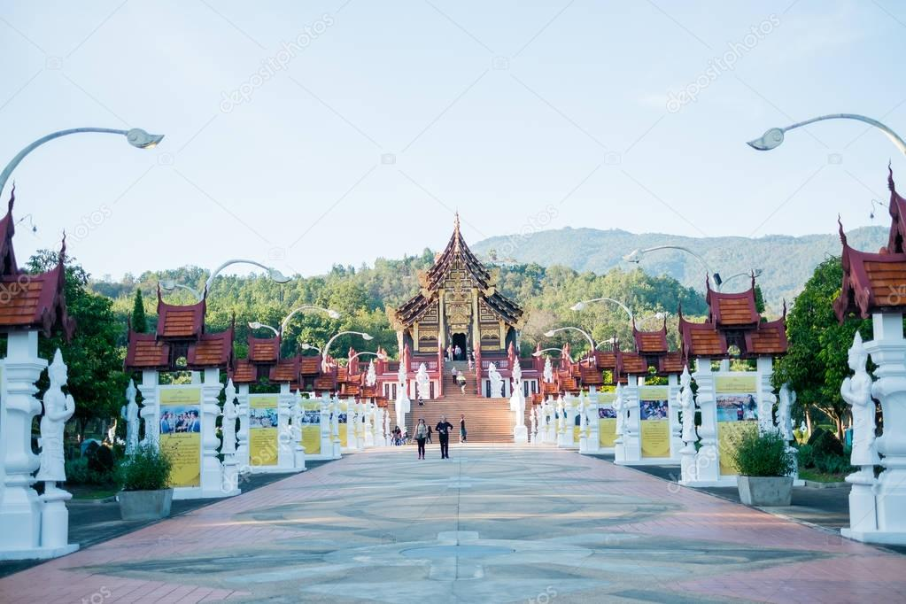 Chiangmai, Thailand - Jan 14 : Royal Park Rajapruek on Jan 14, 2017 in Chiangmai, Thailand