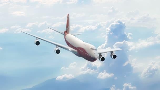Osobní letadlo na obloze. Jumbo jet