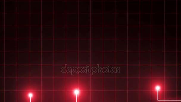 Červené čáry kreslené světlé skvrny. To může představovat elektronické spojení, komunikace, futuristické technologie