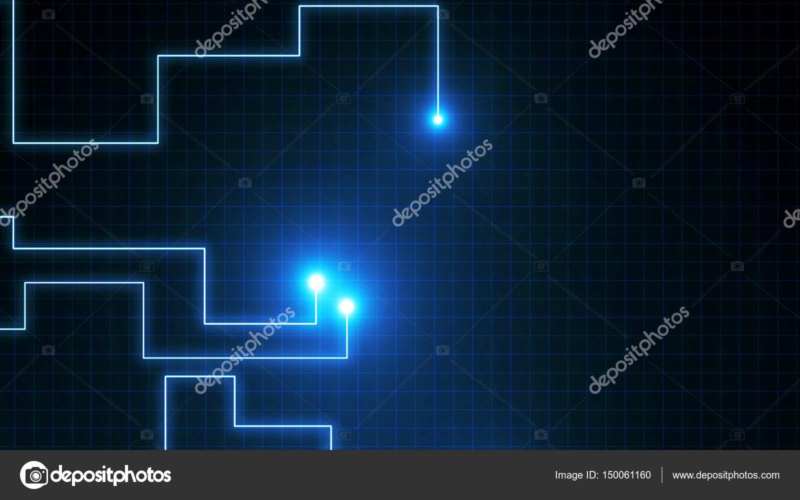 Blaue Linien gezeichnet von Lichtblicke. Es kann darstellen ...