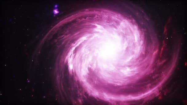 Spirális piros galaxis, animáció a Tejút