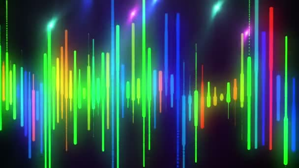 High Definition CGI motion backgrounds ideal for editing, led backdrops or  broadcasting featuring some animation of colorful bars on a black  background