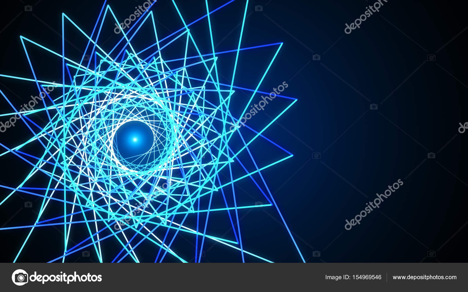 3d Line Design : D blue abstract mesh background with circles lines and shapes
