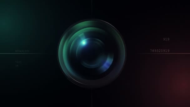 Camera lens 3d animation