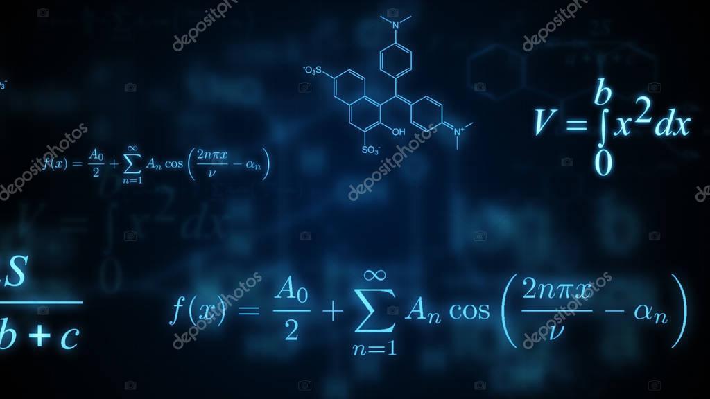 数学・物理・化学の数式を輝きます。図 — ストック画像