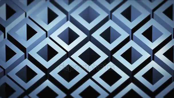 Seamless looping abstract cubes background.