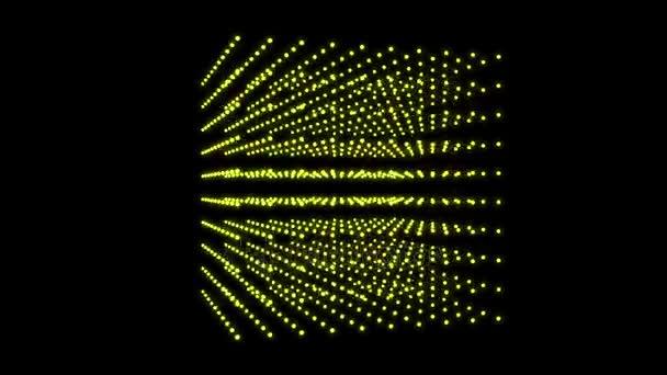 Krásné kostky box tečka částic design, abstraktní fraktální bodu geometry.intersecting kreativitu, virtuální umělecké kosmu, dynamická perspektiva geometrie prostoru, víru manšestr struktura