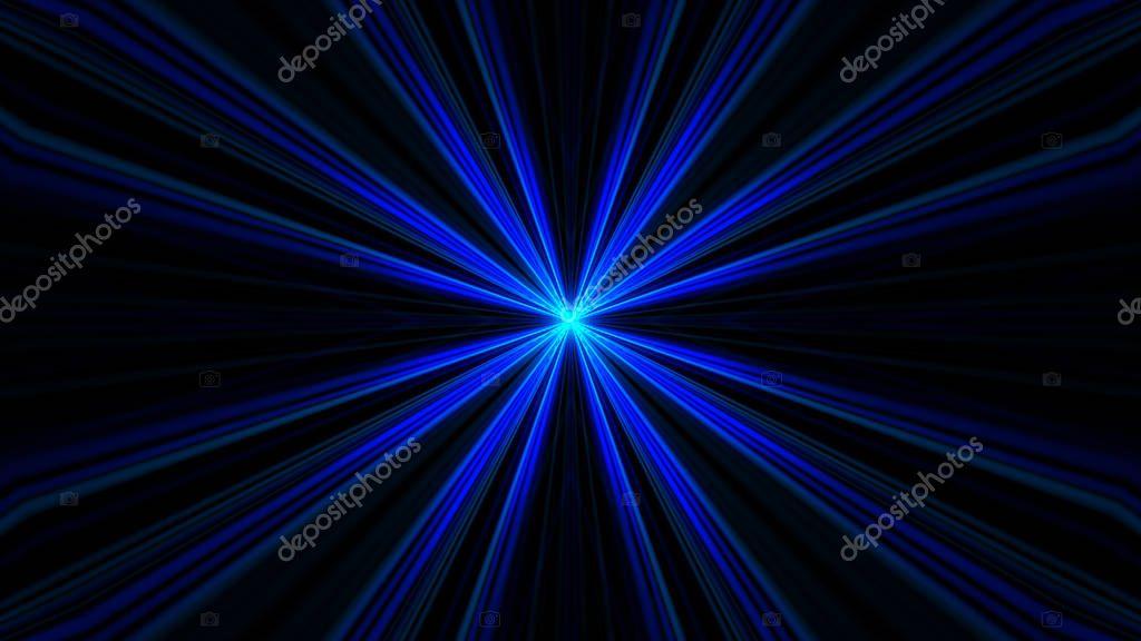 VJ Fractal blue kaleidoscopic background. Background motion with fractal design. Disco spectrum lights concert spot bulb. 3d illustration