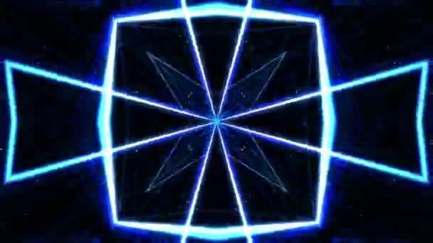 vj fraktaler blauer kaleidoskopischer Hintergrund. Hintergrundbewegung mit fraktalem Design. Disco-Spektrum beleuchtet Konzert Spot-Glühbirne. mehr Sets Filmmaterial in meinem Portfolio.
