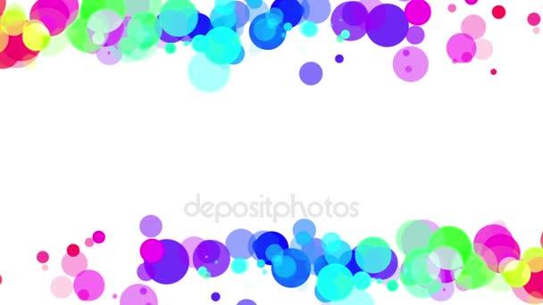 abstrakter Hintergrundrahmen aus bunten Partikeln auf weißem Hintergrund