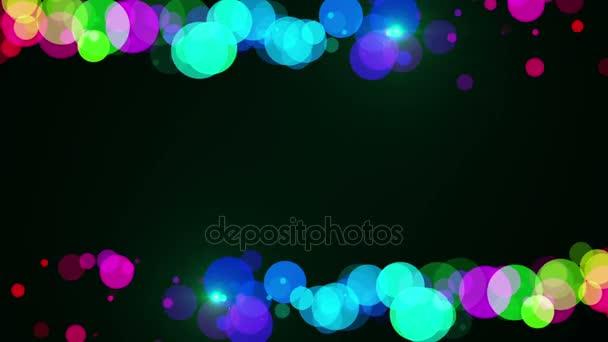Abstraktní pozadí snímku pestrobarevným částic na černém pozadí