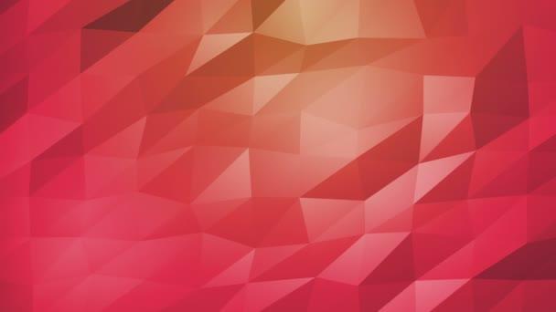 Červená oranžová polygonální geometrické povrch. computeru