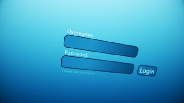 Zadání uživatelského jména a hesla na webové stránce
