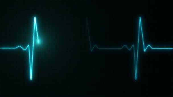 Kardiogramm Cardiograph Oszilloskop Bildschirm blau