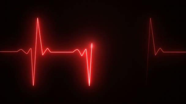 Kardiogram Kardiograf osciloskopická obrazovka červená