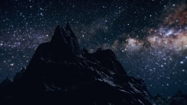 Star Milky Way in the night above the mountains time lapse. Elements of this image furnished by NASA