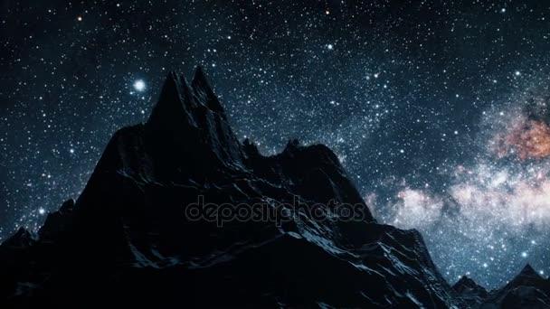 Po noční obloze časová prodleva hvězd galaxie Mléčné dráhy. Prvky tohoto obrázku jsou podle Nasa