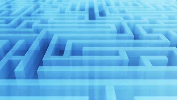 Bezproblémové letu nad nekonečnou technologické transparentní labyrint