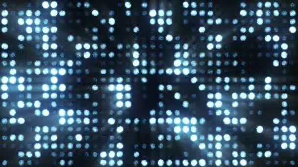 Fényes, villogó reflektorok. Kék