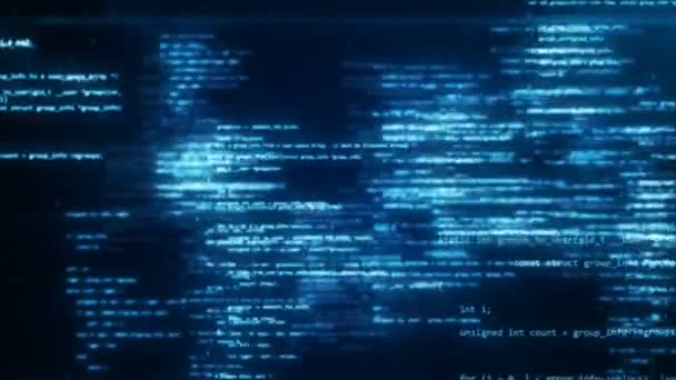 Animation of working program code in the technological space
