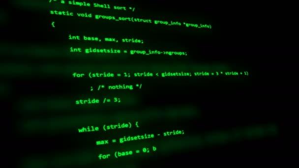 C programozási kódot, amit szerkezet-ra a számítógép képernyőjén