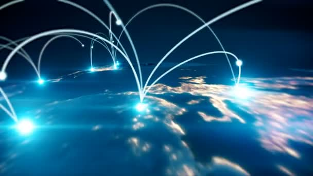 Globales Geschäftskonzept für Verbindungen und Informationstransfer in der Welt