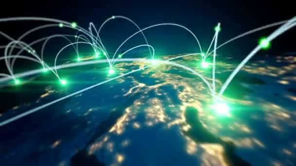 Globální podnikatelský koncept propojení a přenosu informací ve světě