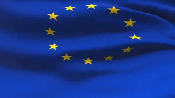Flag of the European Union Beautiful 3d animation of the European flag seamless loop