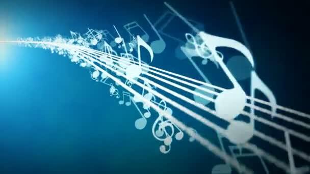 Animované pozadí s hudební noty