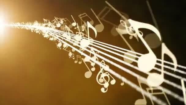 Sfondo animato con le note musicali