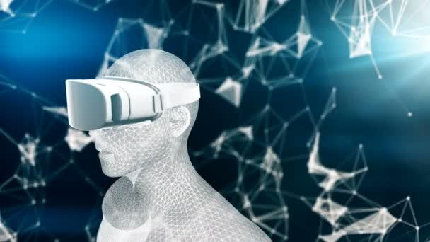 Pontok az emberi hologram, vr animáció zökkenőmentes a virtuális valóság