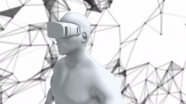 Pont a digitális emberi, vr animáció zökkenőmentes a virtuális valóság