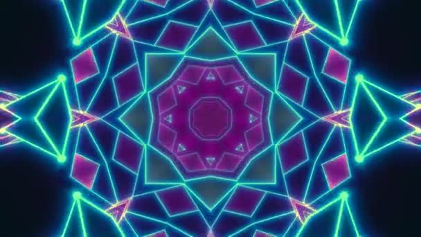Disco shows a kaleidoscope background - seamless flight in a retro 80s  tunnel